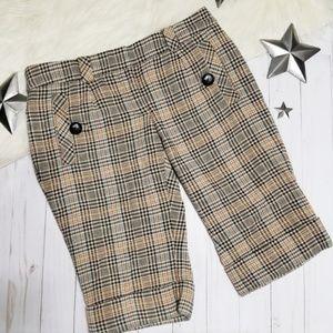 Anthropologie Taikonku plaid shorts bermuda tan 2